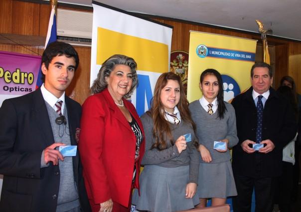 Alcaldesa Virginia Reginato, tarjeta estudiantil  2
