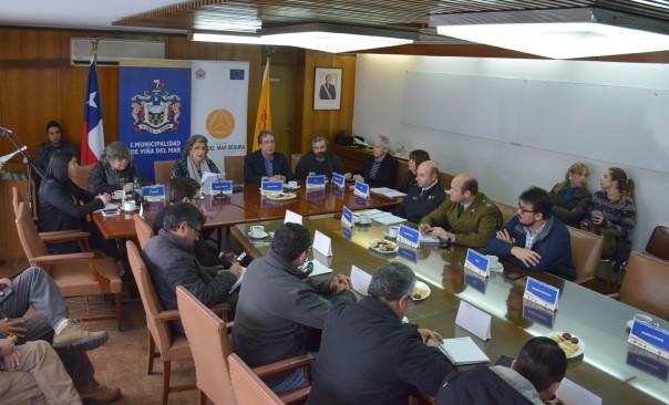 Alcaldesa Virginia Reginato, mesa tecnica 1